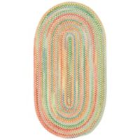 Capel Rugs Baby's Breath Braided 1-Foot 8-Inch x 2-Foot 6-Inch Oval Accent Rug in Light Yellow