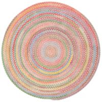 Capel Rugs Baby's Breath Braided 7-Foot 6-Inch Round Area Rug in Pink