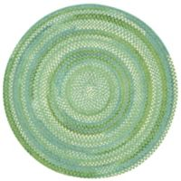 Capel Rugs Waterway Braided 7-Foot 6-Inch Round Accent Rug in Green