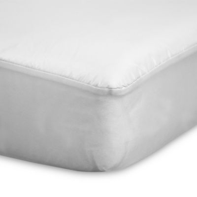 sealy allergy protection plus crib mattress pad in white