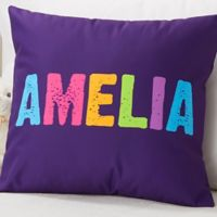 All Mine! Personalized 18-Inch Square Throw Pillow