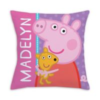 Peppa Pig Big Hug Square Throw Pillow in Pink