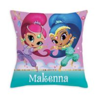 Shimmer and Shine Make it Sparkle Square Throw Pillow in Pink
