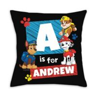 Paw Patrol Chase Square Throw Pillow in Black
