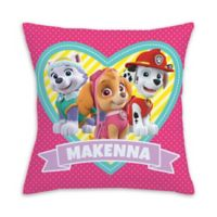 PAW Patrol Loveable Pups Square Throw Pillow in Pink