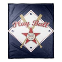 """Play Ball"" Coral Fleece Blanket"