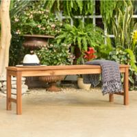 Forest Gate Eagleton Patio Acacia Wood Patio Bench in Brown