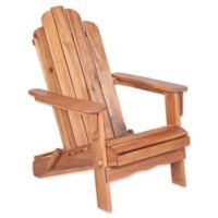 Forest Gate Eagleton Patio Acacia Wood Folding Adirondack Chair in Brown