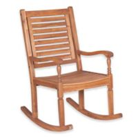 Forest Gate Eagleton Patio Acacia Wood Patio Rocking Chair in Brown