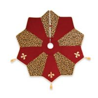 C&F Home Fleur De Lis Christmas Tree Skirt in Red/Gold