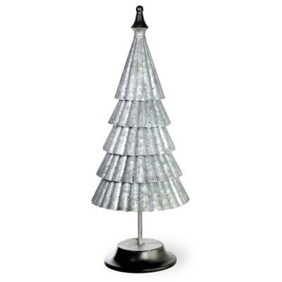 Boston International Galvanized 24 Inch Metal Vail Tree In Silver