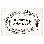 """Welcome to Our Nest"" I 16-Inch x 20-Inch Canvas Wall Art"