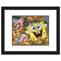 Photo File SpongeBob SquarePants 18-Inch x 22-Inch Canvas Wall Art with Double Matted Frame