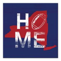 Designs Direct New York Football State Pride 16-Inch Square Canvas Wall Art in Blue