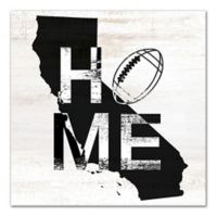 Designs Direct California Football State Pride 16-Inch Square Canvas Wall Art in Black