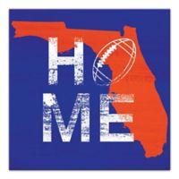 Designs Direct Florida State Pride 16-Inch Square Canvas Wall Art in Blue