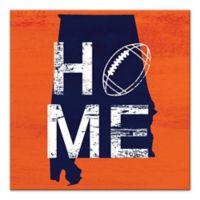 Designs Direct Alabama State Pride 16-Inch Square Canvas Wall Art in Orange