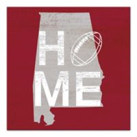 Designs Direct Alabama State Pride 16-Inch Square Canvas Wall Art in Red