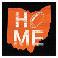 Designs Direct Ohio Football State Pride 16-Inch Square Canvas Wall Art in Orange