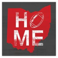 Designs Direct Ohio Football State Pride 16-Inch Square Canvas Wall Art in Red