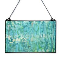 River of Goods Single Pane Stained Glass Window Panel in Teal