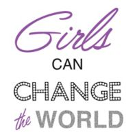 "WallPops!® ""Girls Can Change the World"" Wall Decal"