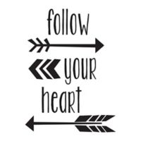 "WallPops!® ""Follow Your Heart"" Wall Quote Decal in Black"