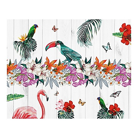 Birds of paradise 9 foot 10 inch x 8 foot 1 inch wall for Birds of paradise mural