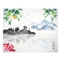 Japanese Lake 9-Foot 10-Inch x 8-Foot 1-Inch Wall Mural