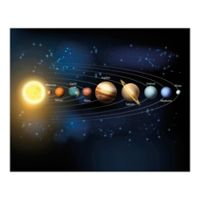Planets 9-Foot 10-Inch x 8-Foot 1-Inch Wall Mural