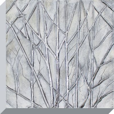 Decor Therapy Metallic Trees Oil Painted Canvas Wall Art