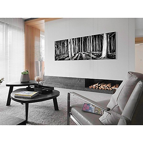Elementem Photography 3 Panel Black And White Path Photographic Wall Art
