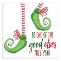"Designs Direct ""Be One of the Good Elves This Year"" 16-Inch Square Canvas Wall Art"