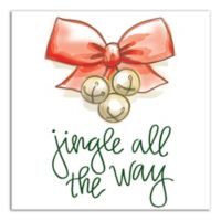 "Designs Direct ""Jingle All The Way"" 12-Inch Square Canvas Wall Art"