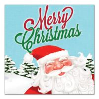Designs Direct Christmas Santa 12-Inch Square Canvas Wall Art