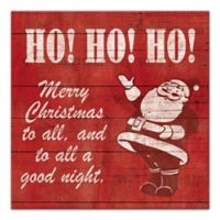 "Designs Direct ""Ho! Ho! Ho!"" 12-Inch x 12-Inch Canvas Wall Art"
