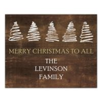 "Designs Direct ""Merry Christmas To All"" 16-Inch x 20-Inch Canvas Wall Art"