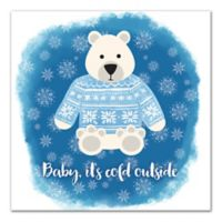 "Designs Direct ""Baby, It's Cold Outside"" 16-Inch Square Canvas Wall Art"