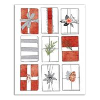 Designs Direct Rows of Presents 14-Inch x 11-Inch Canvas Wall Art
