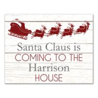 "Designs Direct ""Santa Claus is Coming"" 11-Inch x 14-Inch Canvas Wall Art"