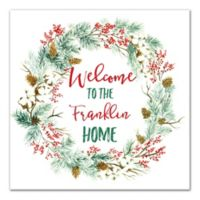 Designs Direct Christmas Family Wreath 20-Inch x 20-Inch