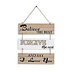 Danya B. Believe the Best 11.75-Inch x 17.75-Inch Wood Wall Art