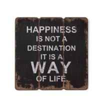 Danya B. Happiness is a Way of Life Wooden Wall Art