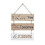 Danya B. I Love You Today Wooden Wall Plaque