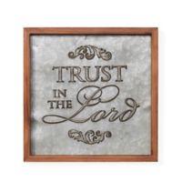 "Danya B. ""Trust in the Lord"" Framed Metal Wall Art"