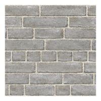 WallPops!® NuWallpaper™ Brick Façade Peel & Stick Wallpaper in Grey