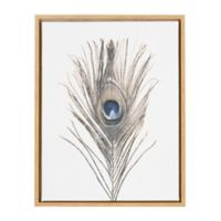 Kate And Laurel Sylvie Feather 18-Inch x 24-Inch Natural Framed Canvas Wall Art