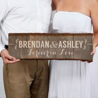 Rustic Couple Basswood Plank Sign