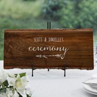 Rustic Wedding Basswood Plank Sign