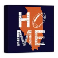 Designs Direct Illinois State Pride 16-Inch Square Canvas Wall Art in Blue